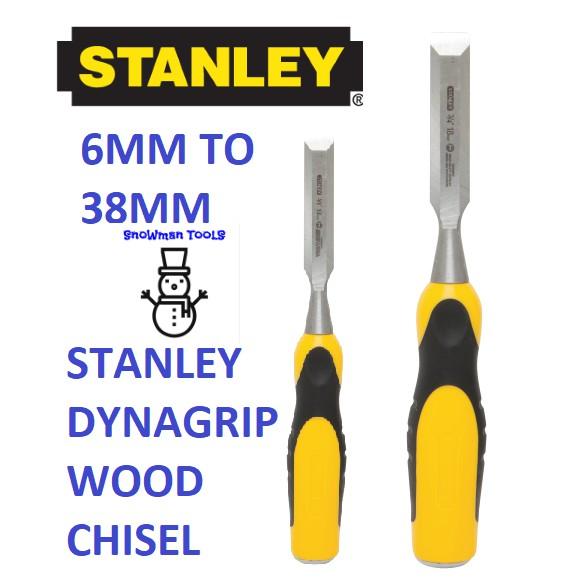 STANLEY DYNAGRIP WOOD CHISEL, DYNA GRIP , 6MM TO 38MM