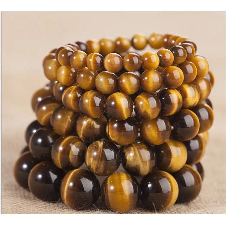 "15/"" Natural Tiger/'s Eye Gemstone Loose Round Spacer Beads Strand 4//8//10//12MM Lot"