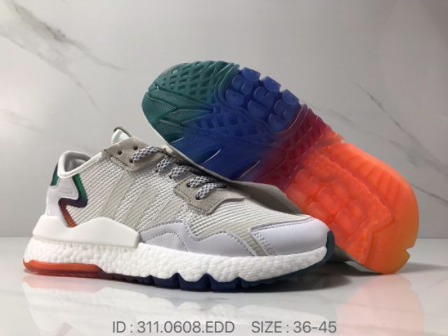 Adidas Nite Jogger 2019 Boost Metal Bright White Reflective Joint Night Retro Running Shoes Premium -
