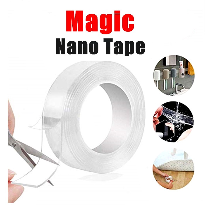 Double Sided Adhesive Nano Tape - Traceless, Washable, Removable, Reusable