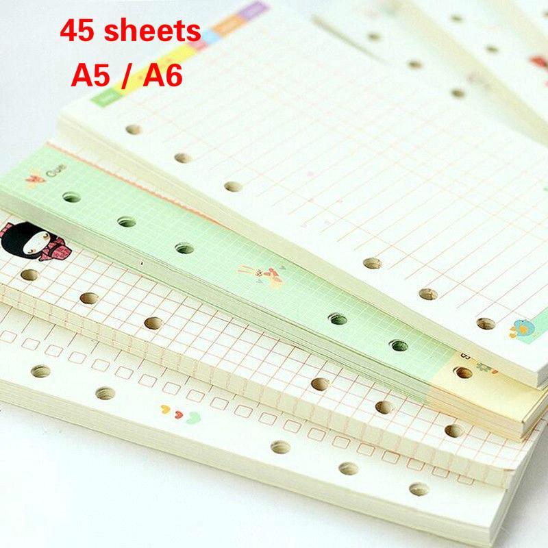 1 Set Colorful Transparent Agenda Planner Notebook
