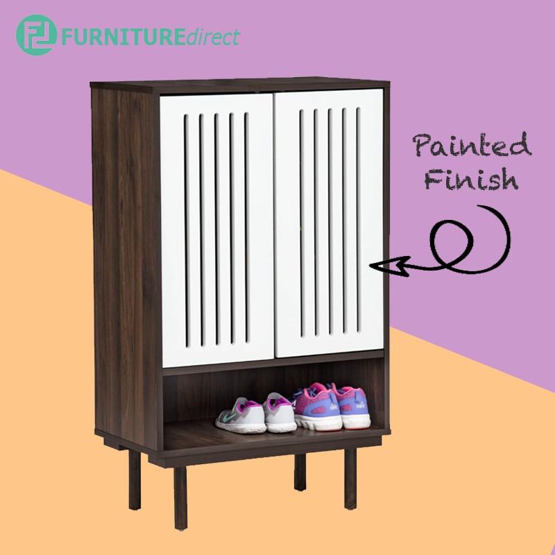 Furniture Direct HARTFORD 2 Door shoe cabinet in painted door/ rak kasut/kabinet