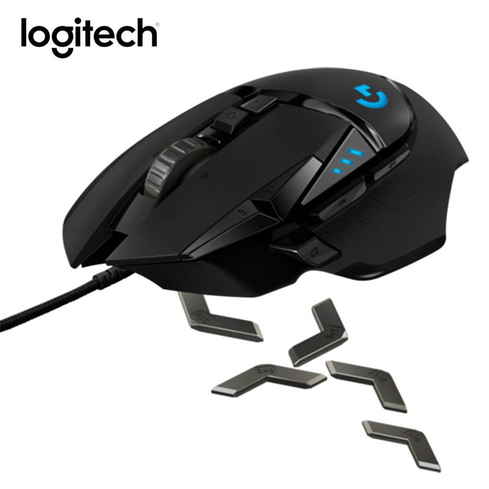 Ê Logitech G502 HERO High Performance Gaming Mouse USB Wired Plug and Play  16000DPI 16 8M RGB Color LED Mechanical Ergon