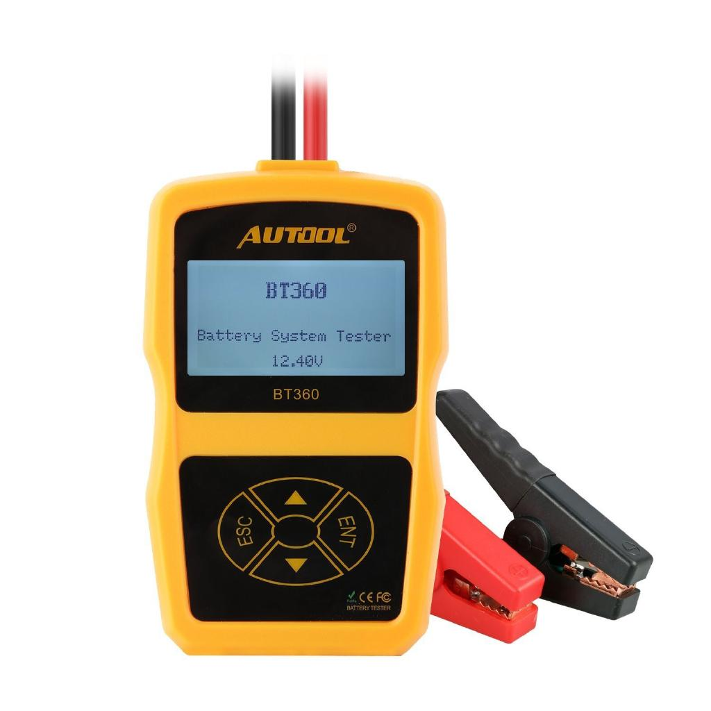 Bt360 Car Battery Cranking Charging Tester Digital Analyzer Shopee