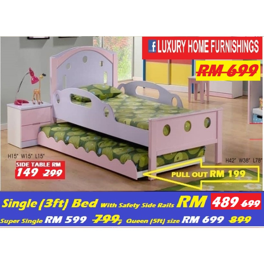 CHILDREN BED SET COLLECTIONS, OFFER FOR THE SINGLE BED ONLY, RM 489