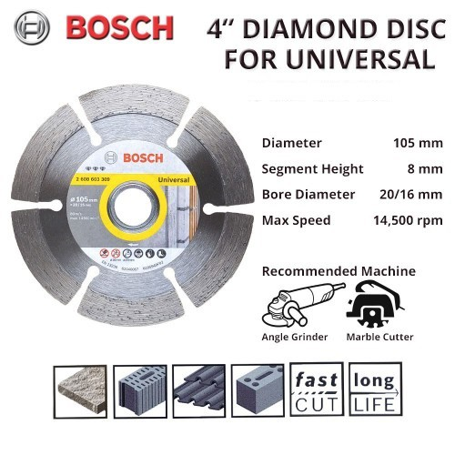 [MTMACHINERY]BOSCH 4'' DIAMOND DISC FOR UNIVERSAL