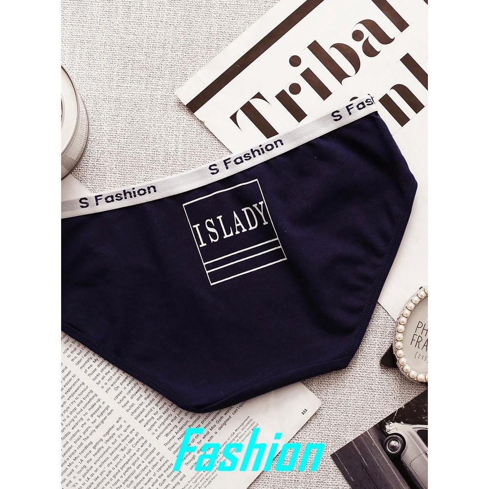 152f7acc5c38 Women's cotton comfortable underwear cartoon waist student girls briefs  sports u