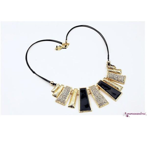 Fashion Women Pendant Gold Chain Choker Chunky Statement Bib Necklace Jewelry