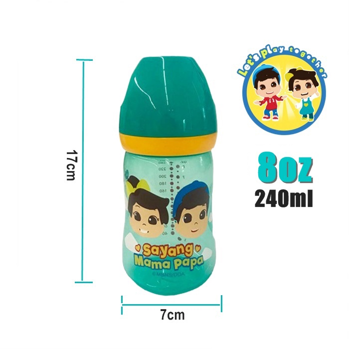 Omar & Hana Limited Stock Wide Neck 8oz Milk Feeding Bottle - Botol Susu