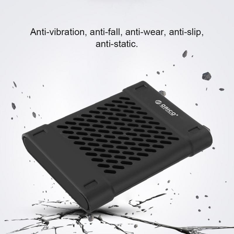 """ORICO Silicone 2.5/"""" Hard Drive Enclosure Hole Case HDD SSD Protective Cover"""