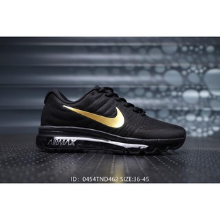 official photos ef71e 9bf0c Nike Air Max full palm sports men and women s Couple running shoes-Black  Gold