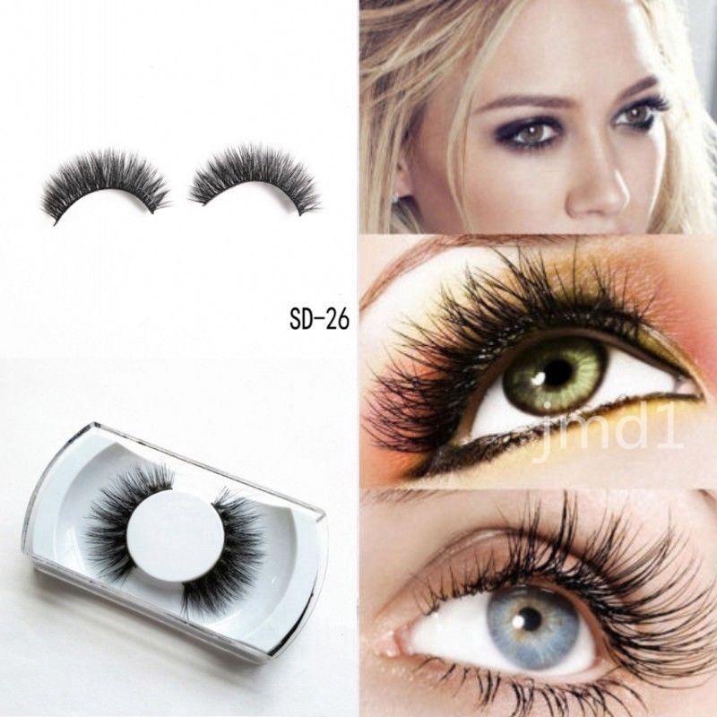 fab5aaba92a ProductImage. ProductImage. 100% 3D Eye Lashes Mink Soft Long Natural Thick  Eye Lashes Party Makeup ...