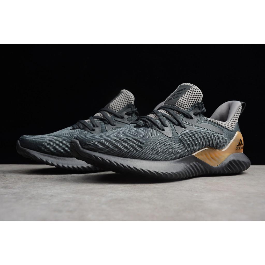 pretty nice ac019 55a05 original Adidas AlphaBounce HPC AMS 3M dark grey men sport boost shoe size  40-45   Shopee Malaysia