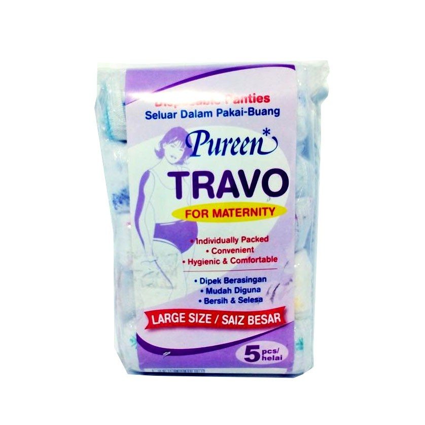 Pureen Travo Disposable Maternity Panties - L (5 Pcs)
