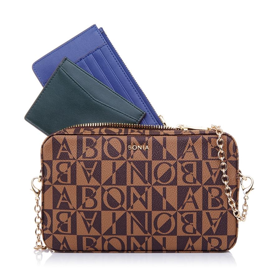Sling Bag With Navy Blue Card Holder