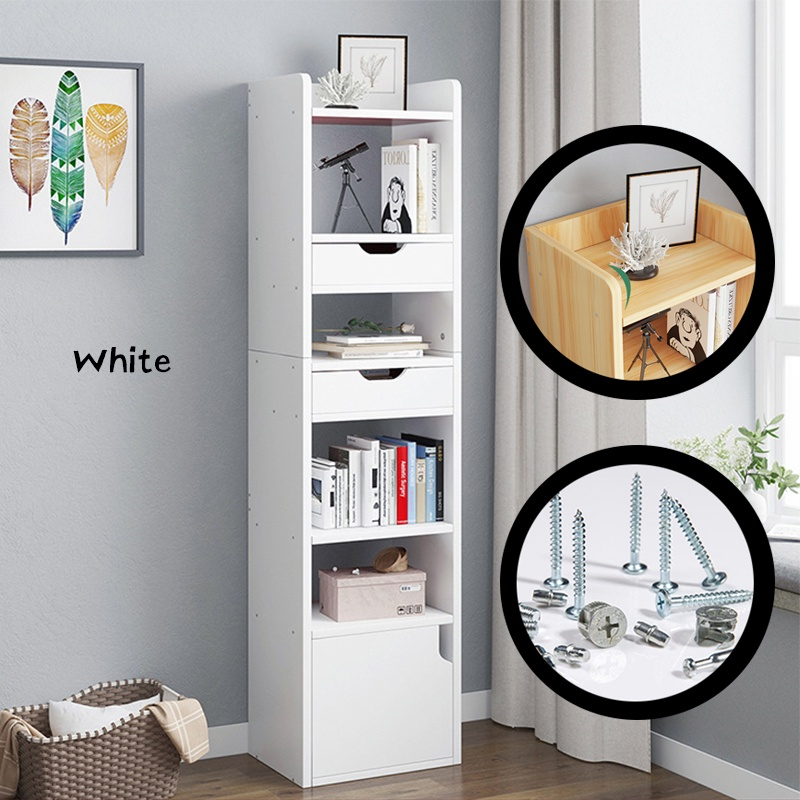 GDeal Multifunctional Modern House 6 Layers Space Saving Storage Rack Cabinet Cupboard Living Room Cabinet