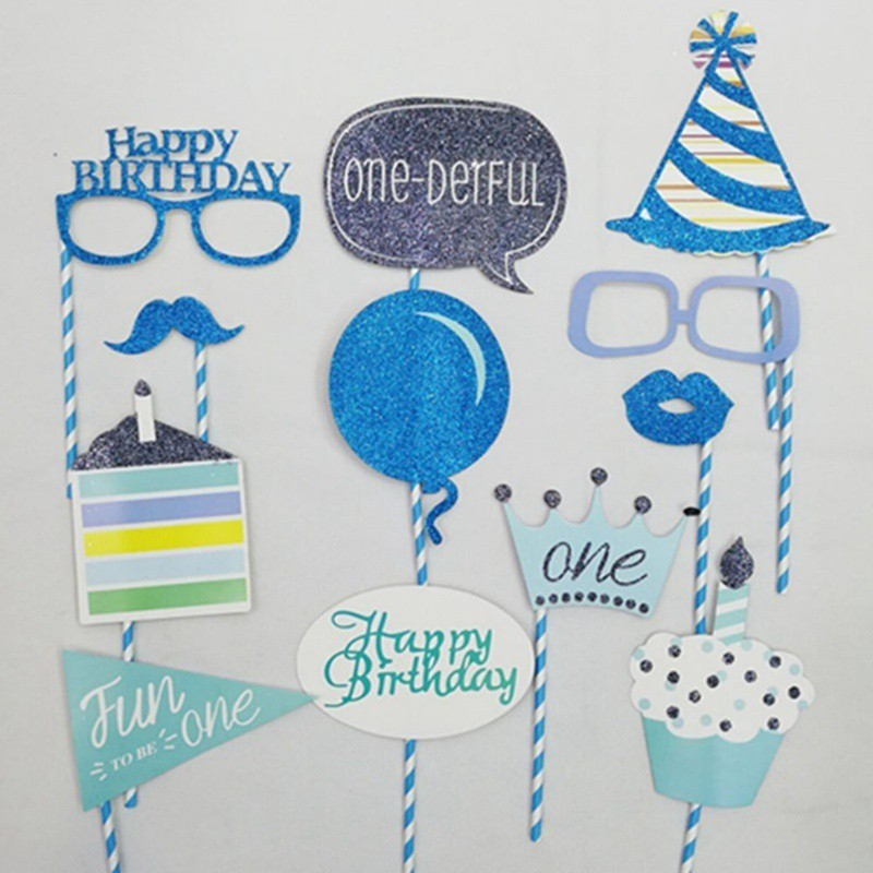 Photography Photo Booth Props Baby Shower Favor Supplies Masks Glasses Decor