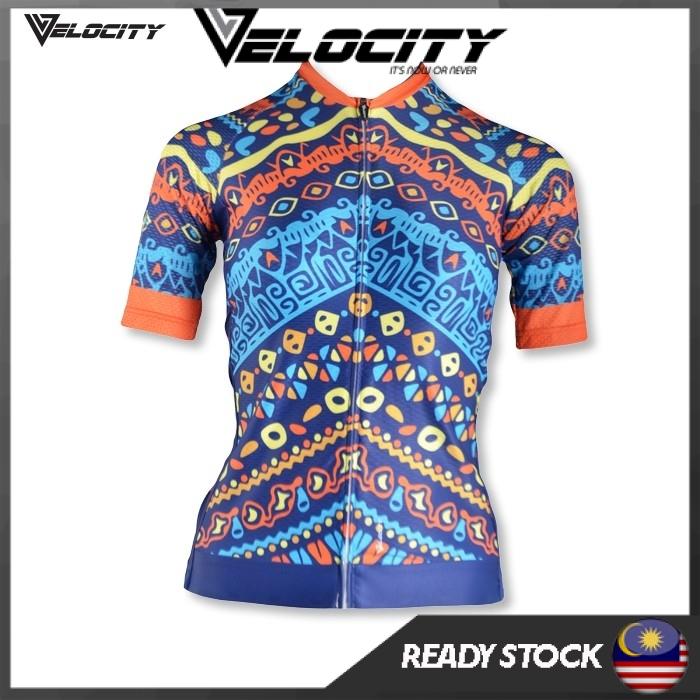 [READY STOCK]Velocity Lady Short Cycling Jersey-Ethnic Lady