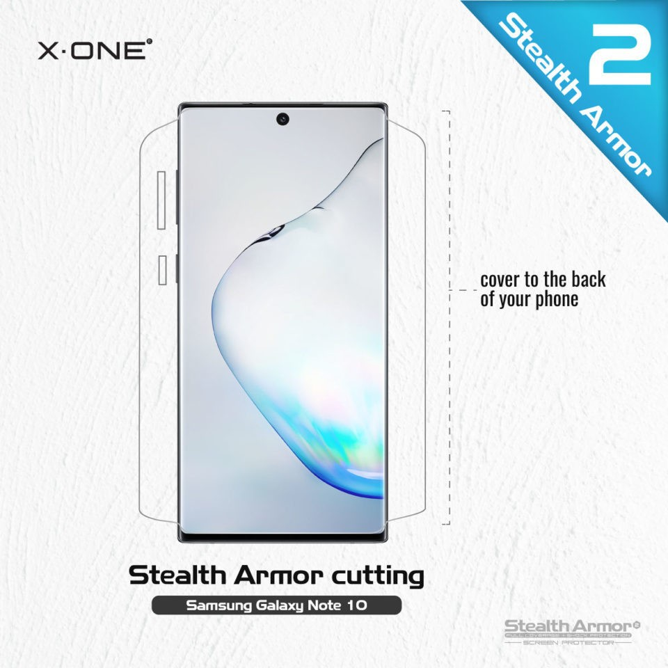 Samsung Galaxy Note 10 X-One Stealth Armor 2(v2)Screen Protector