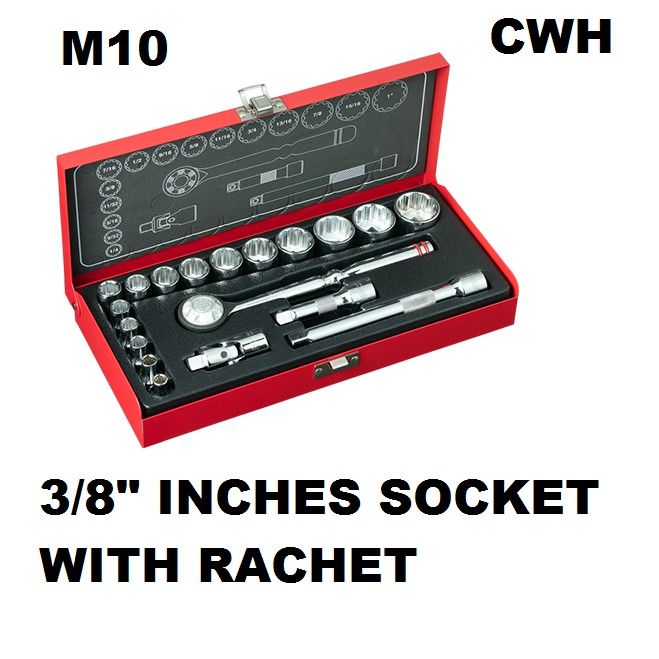 "M10 319W 319WB 3/8"" INCHES SOCKET RACHET EXTENSION BAR UNIVERSAL JOINT NUT DRIVER SET"