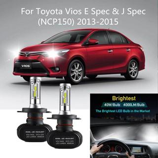 For Toyota Vios E Spec J Spec Ncp150 2013 2015 Head Lamp H4 Led Light Car Headlight Auto Head Light Lamp 6000k Shopee Malaysia