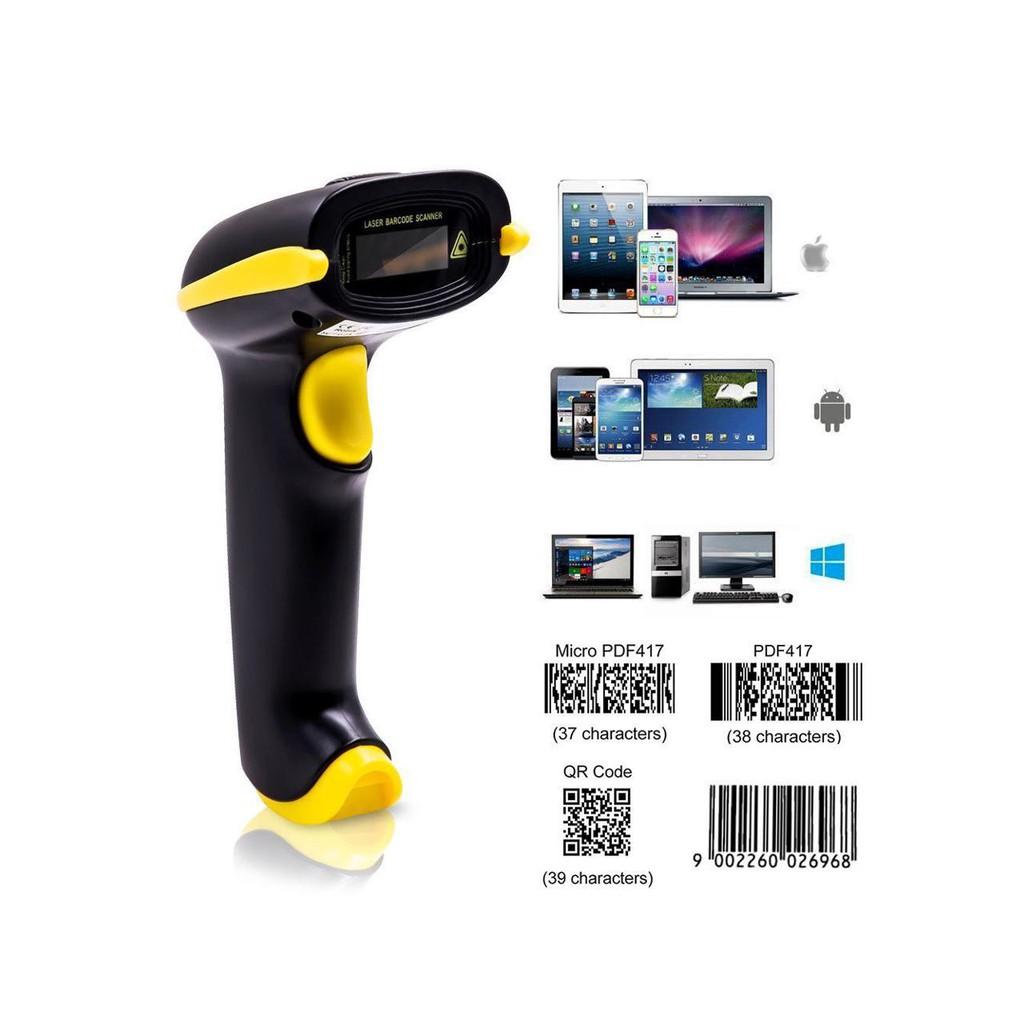 1D 2D USB Handheld Wireless Bluetooth Barcode Scanner Reader For QR PDF417  IOS