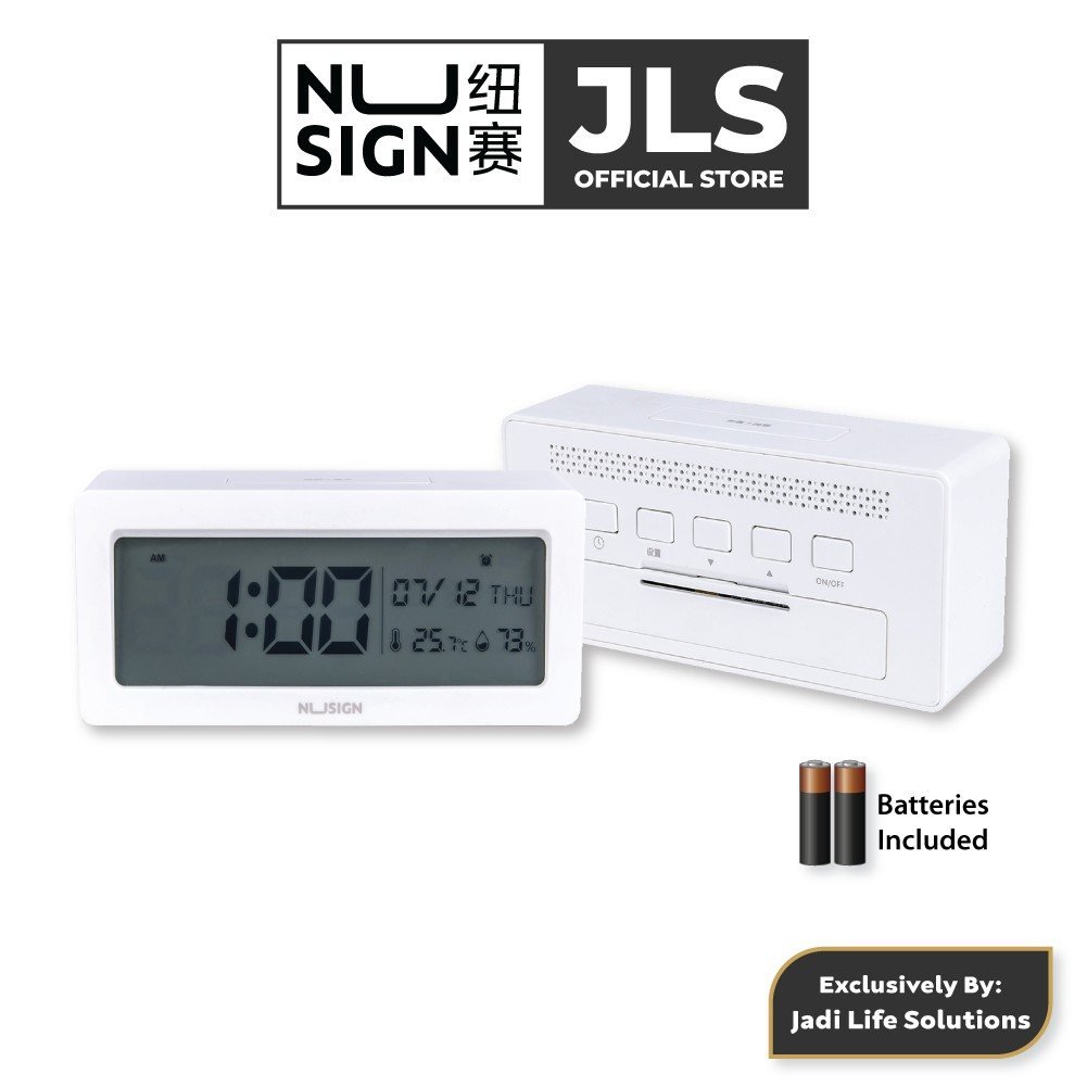 Jadi Nusign Smart Alarm Clock in Pure White