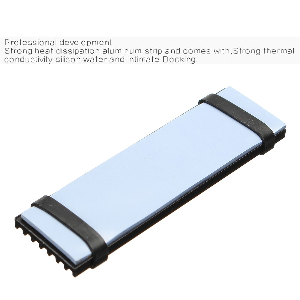 For M.2 NGFF NVMe 2280 PCIE SSD Aluminum Cooling Heatsink with Thermal Pad