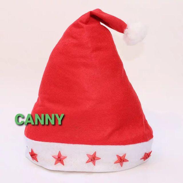 ☃️ LED Light Christmas Hat Free Size / Xmas Hat 40cm x 28cm (1 set) ☃️