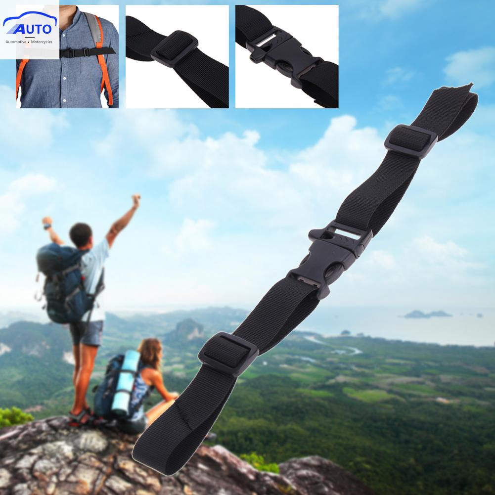 Whistle Buckled Sternum Backpack Accessories 2X Anti Slip Harness Chest Strap