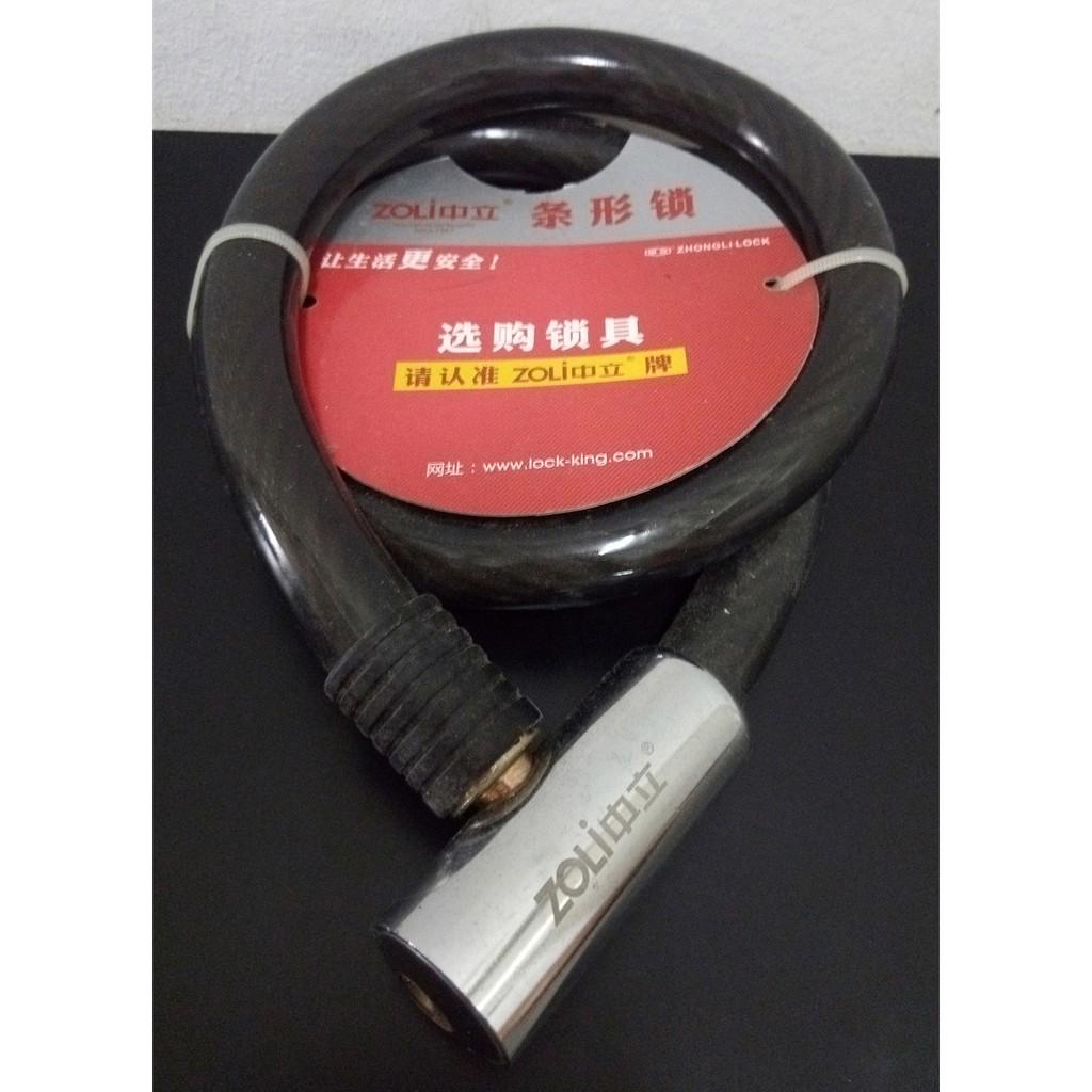 Black Helix Stick Steel Motorcycle Lock 20 x 1000mm - Zoli 84709