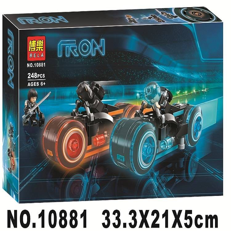 10881 Ideas TRON Legacy Light Cycles Model Building Blocks Action Figure Toys