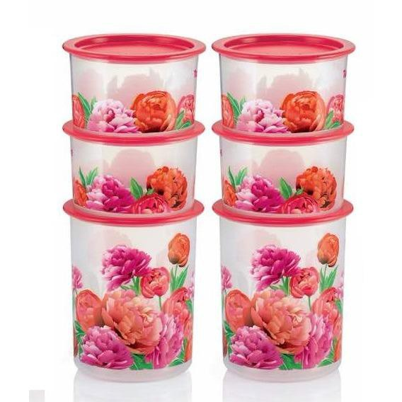 Tupperware Blooming Peonies One Touch Set - 6pcs Set