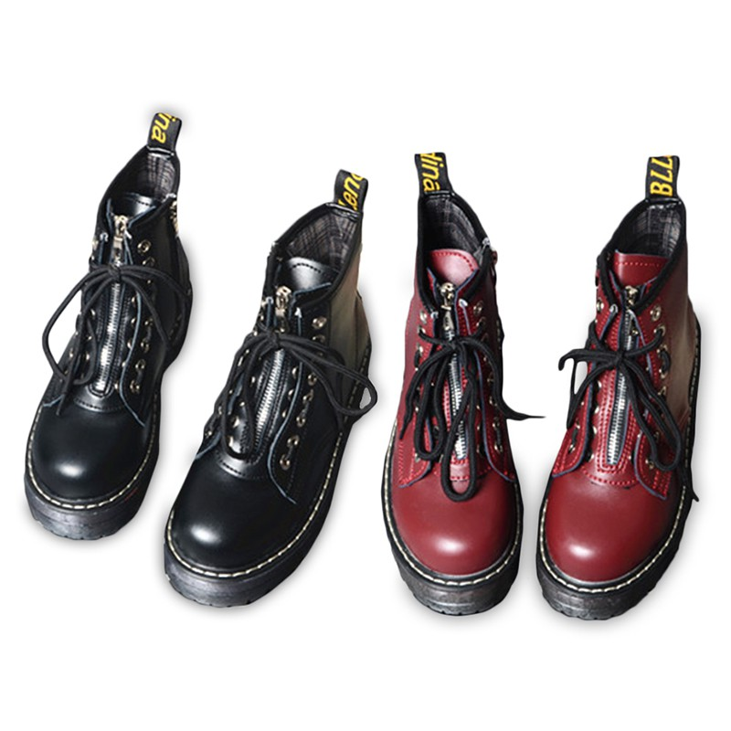 35eccb1b05d Xx koko Womens Creepers Chunky Cleated Platform Front Zip Lined Ankle Boots  Shoes
