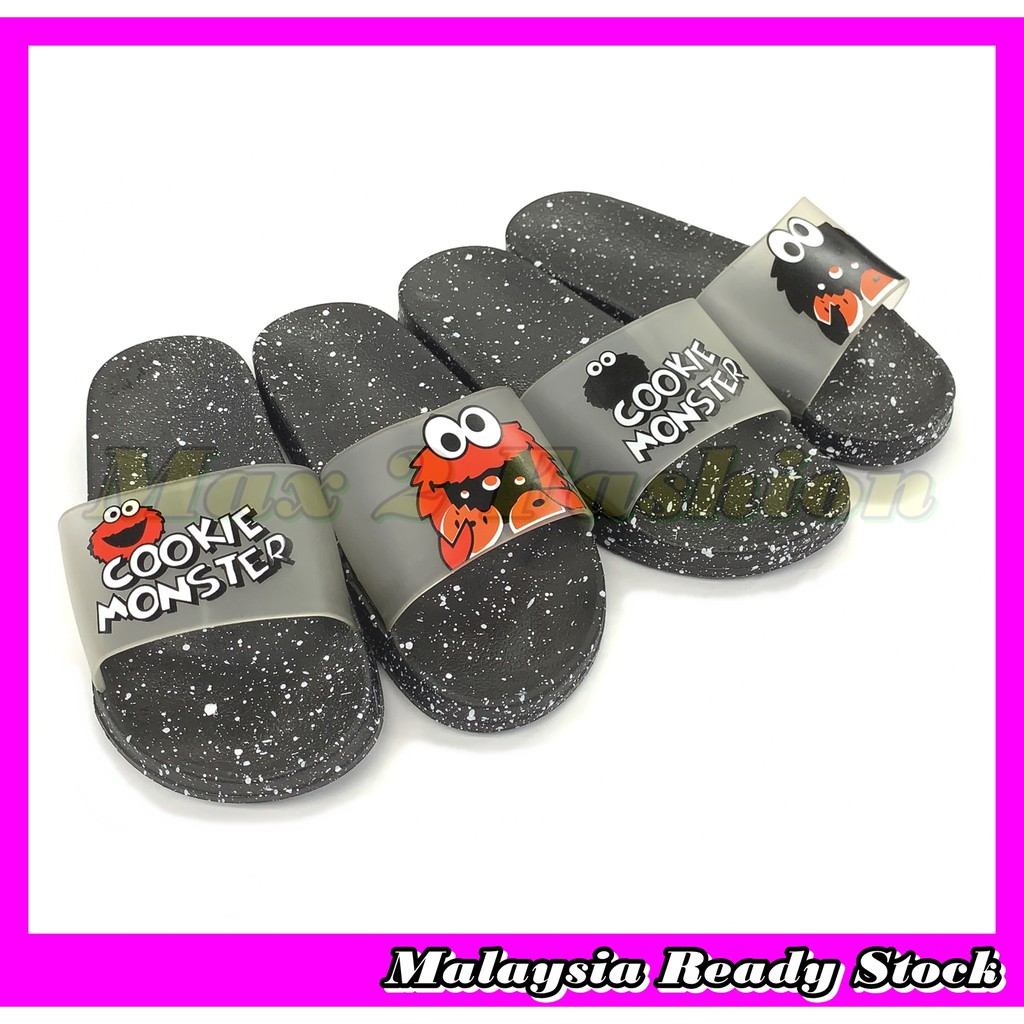 *C&T* Ready Stock J76625 Couple Slippers Non-slip  Home & Casual Sandal