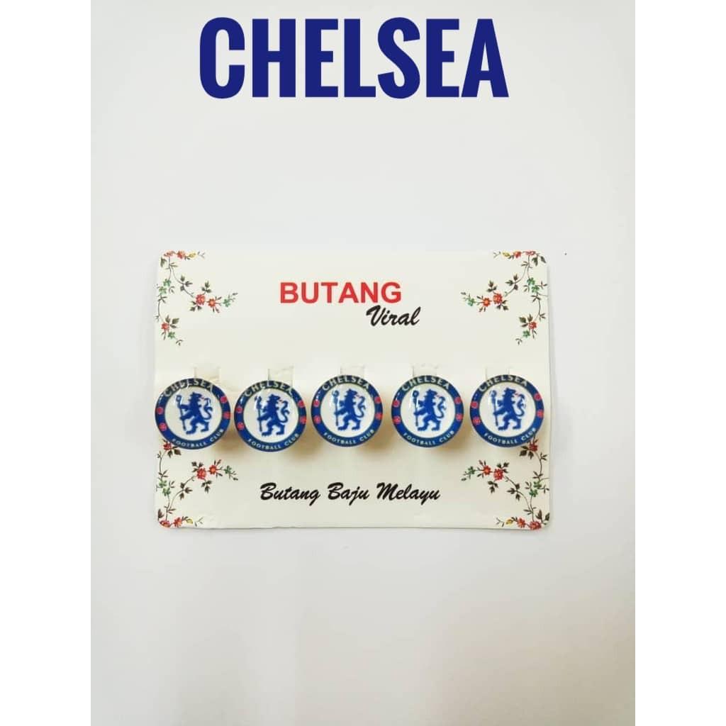 *BUTANG CHELSEA *Butang Baju Melayu Hari Raya Chelsea FC Butang Baju Team Bola EPL FREE BUBBLE WRAP