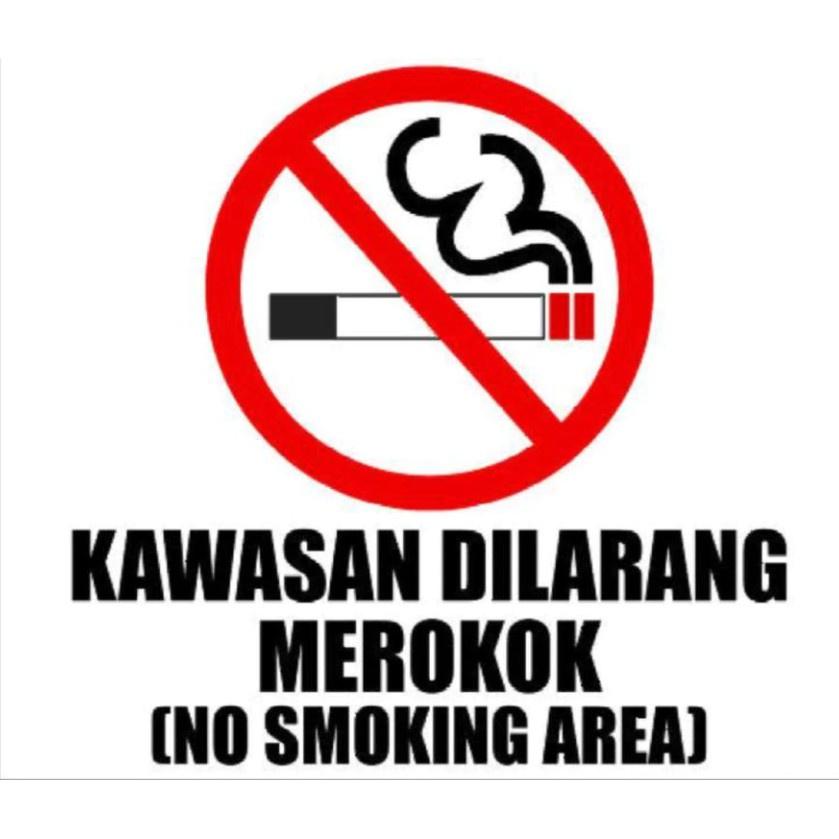 【Msia Stock】40 x 50cm Restaurant No Smoking PVC Board Sign Door Wall DiLarang Merokok