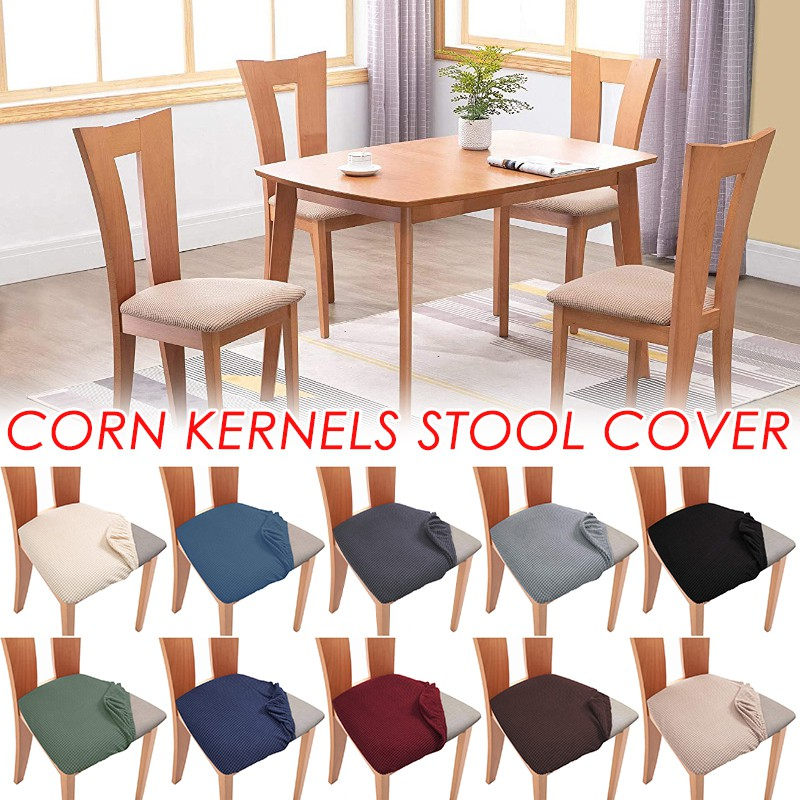 Stretch Spandex Dining Room Chair Seat Covers Upholstered Chair Seat Cushion Cover Stretch Fitted Dinning Room Chair Covers Removable Washable Furniture Protector Slipcovers With Ties Shopee Malaysia