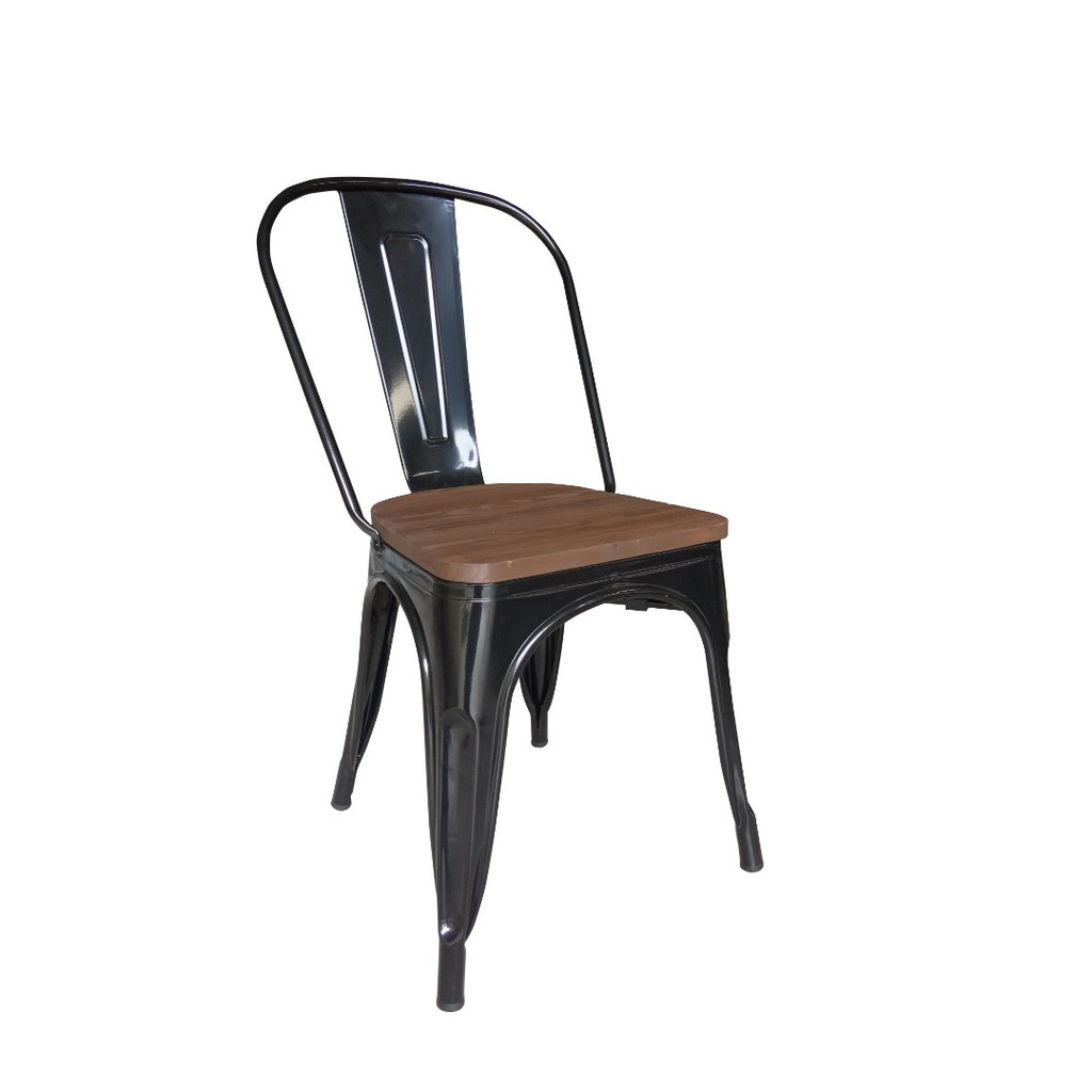 (Ready Stock) Wood Tolix Metal Chair, Industrial Look, Stackable, Dining,  Study, Outdoor, Cafe, Restaurant, Office, Home
