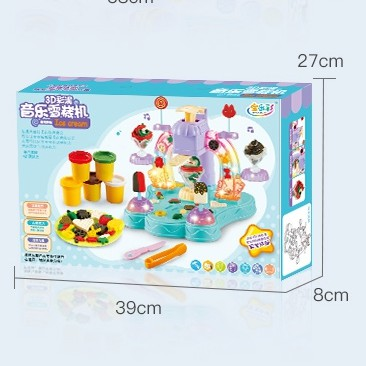 JM 3D MUSIC ICE -CREAM MACHINE CLAY MOULDS ENVIRONMENTAL FRIENDLY NON TOXIC HARMLESS CREATIVE IMPROVEMENT TOY PLAY DOH