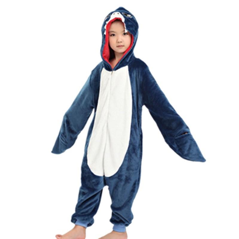 fb138ef7a Children Shark Onesie Costume Girls Boys Animal Cosplay Pajama Jumpsuit  Homewear | Shopee Malaysia
