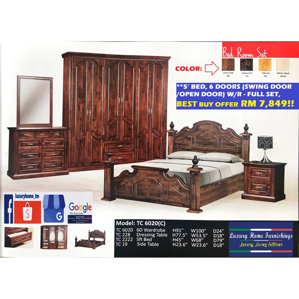 BED ROOM SET COLLECTION F