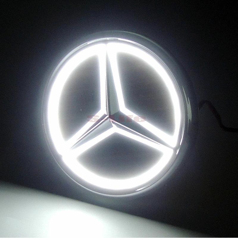 3D LED Car Tail Logo Red Light for Benz S350 S300L Auto Badge Light Emblems