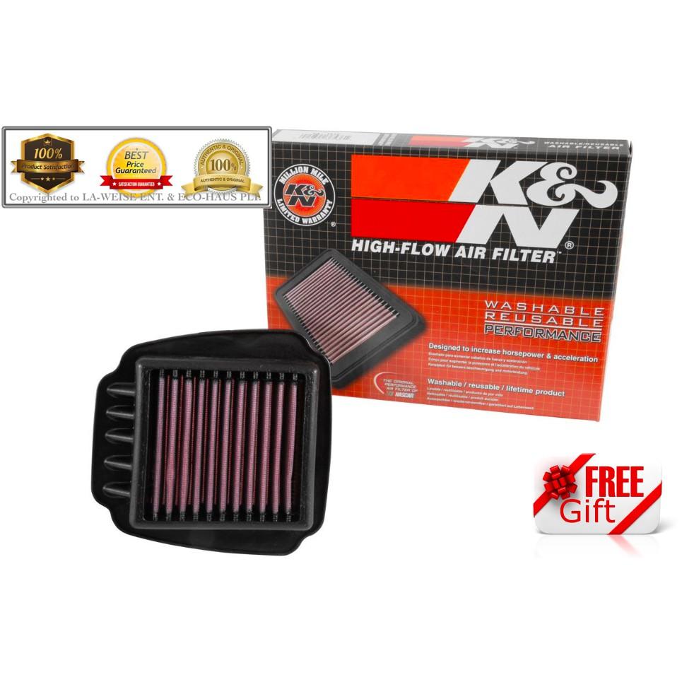 [Genuine] K&N AIR FILTER - YAMAHA (Y15 / Y15R)   ***RACING PERFORMANCE***   <<<FREE GIFT>>>