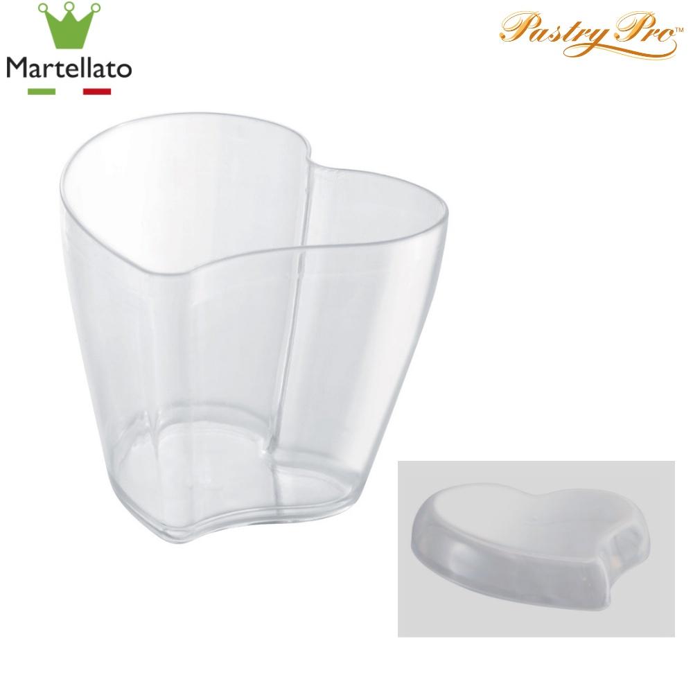 Martellato, Dessert Cup, Heart With Lid