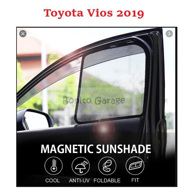 Magnetic Sunshade Toyota Vios 2019 4pcs