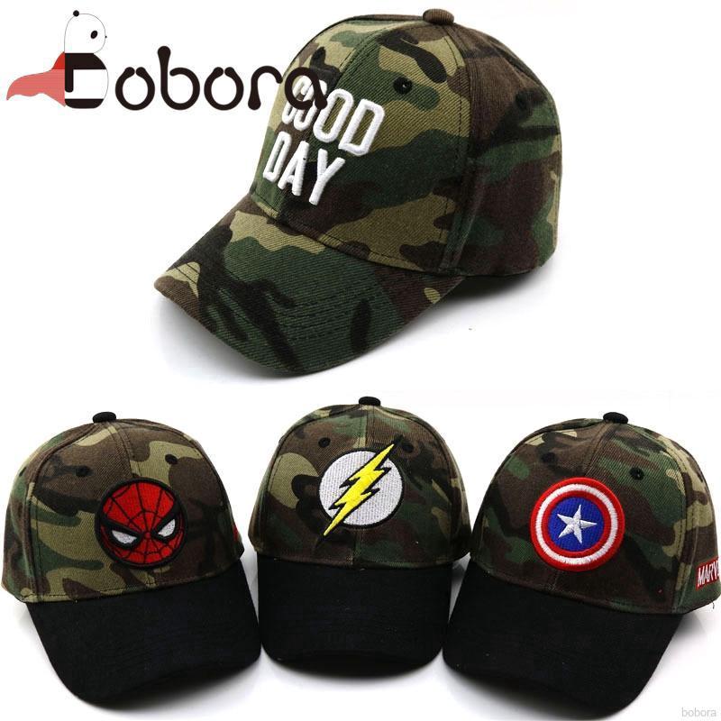 0a7d55f7 BOBORA Children's cartoon casual sunshade baseball cap