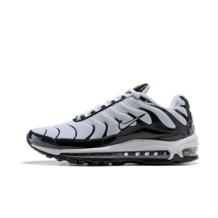 best service b9740 aadad original Men Nike Air Max 97 Plus TN Joint Mix Air Sole Shockproof Sport  Running Shoes WHITE/BLACK
