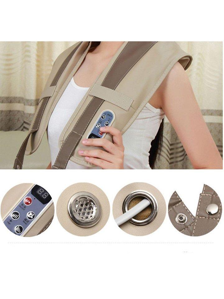 Massage Body Neck Shoulder Back Leg Waist Massager Belt Pad Tool CL384
