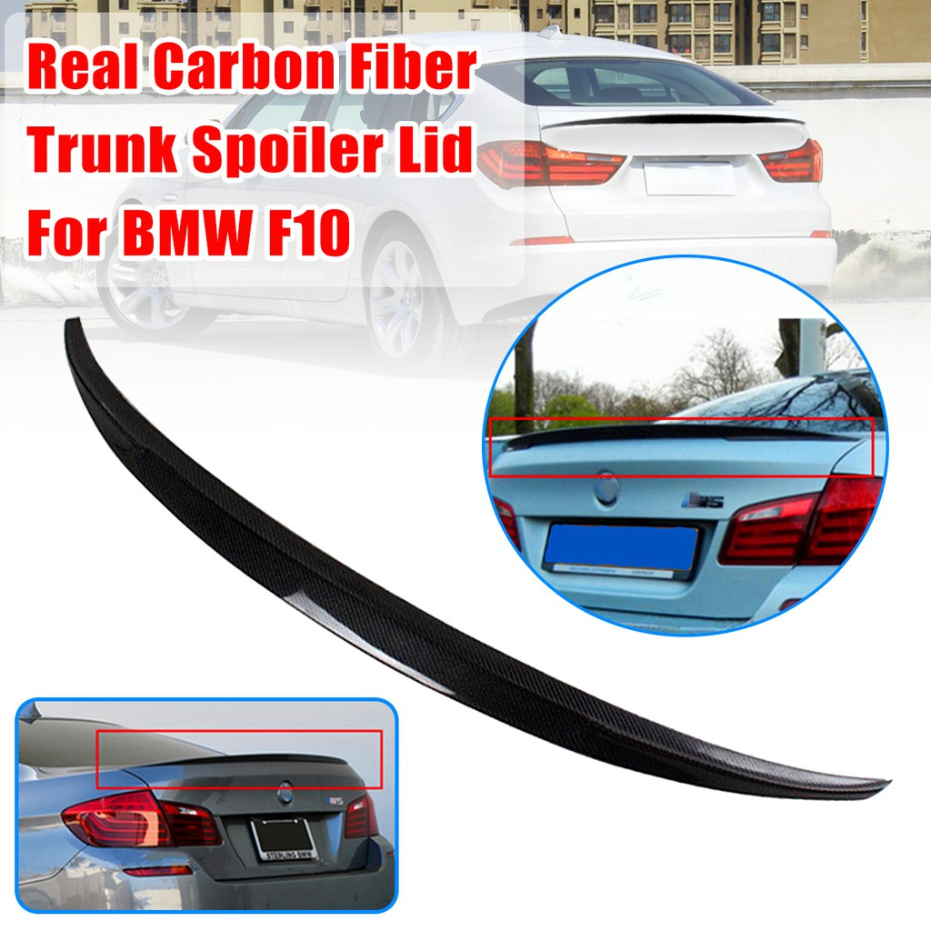 Carbon Fiber Sporty Appearance Rear Trunk Spoiler For BMW F10 5 Series M5 11-15